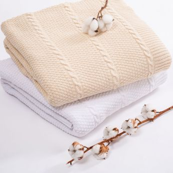 Cable Cotton Throw