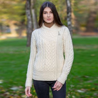 Cable Knit Side Zip Cardigan