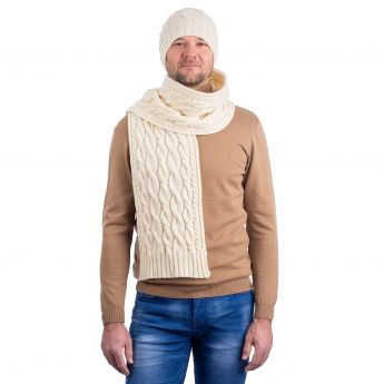 Wool Cable Knit Scarf