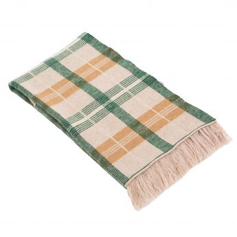 Forest Green Pure New Merino Wool Throw