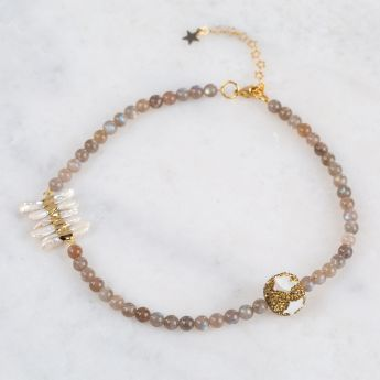 Mother Of Pearl Celtc Star Necklace